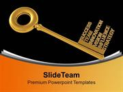 Find The Right Key Of Success In Business PowerPoint Templates PPT The