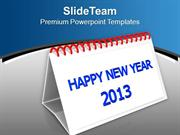 Happy New Year 2013 PowerPoint Templates PPT Themes And Graphics 0413