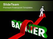Jump The Bars To Find Success PowerPoint Templates PPT Themes And Grap
