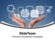 Touch The Technology PowerPoint Templates PPT Themes And Graphics 0413