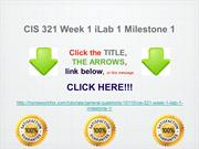CIS 321 Week 1 iLab 1 Milestone 1