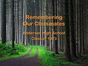 Remembering Our Classmates