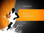 Basketball Man PowerPoint Template