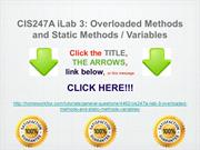 CIS247A iLab 3- Overloaded Methods and Static Methods : Variables
