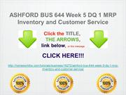 ASHFORD BUS 644 Week 5 DQ 1 MRP Inventory and Customer Service