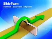 Arrow Overcomes Obstacles To Success PowerPoint Templates PPT Themes A