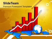 Bar Graph With Map And Globe Business PowerPoint Templates PPT Themes