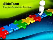 Business Concept With Jigsaw Puzzles PowerPoint Templates PPT Themes A