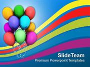 Colorful Balloons Birthday Party PowerPoint Templates PPT Themes And G