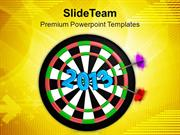 Dart Hitting Target New Concept PowerPoint Templates PPT Themes And Gr