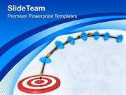 Darts Moves Towards Target Success Concept PowerPoint Templates PPT Th