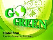 GO GREEN Environmental Recycle Concept PowerPoint Templates PPT Themes