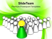 Leadership Concept Team And Leader PowerPoint Templates PPT Themes And