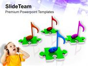 Muiscal Notes Entertainment PowerPoint Templates PPT Themes And Graphi