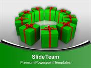 Gift And Celebration Happiness Theme PowerPoint Templates PPT Themes A