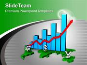 Global Business Growth Bar Graph PowerPoint Templates PPT Themes And G