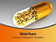 Golden Capsule With Health Theme PowerPoint Templates PPT Themes And G