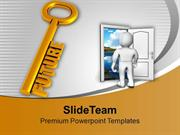 Golden Key With Word Future PowerPoint Templates PPT Themes And Graphi