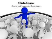 3d Humans Group To Show Leadership PowerPoint Templates PPT Themes And