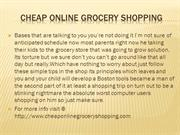 Cheap online grocery shopping