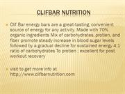 clifbar nutrition