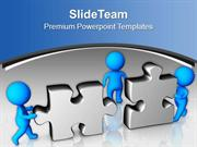 3d Puzzle With Graphics Showing Problem Solving PowerPoint Templates P