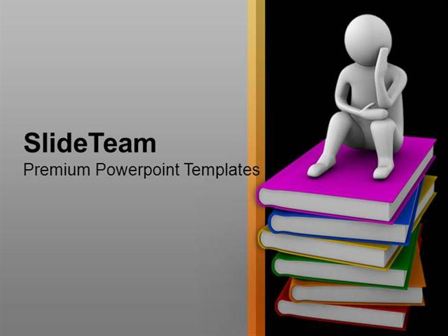 books are our true friends education theme powerpoint templates pp, Powerpoint templates
