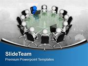 Business Meeting With A Leader PowerPoint Templates PPT Themes And Gra