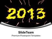 Celebration Theme For New Year 2013 PowerPoint Templates PPT Themes An