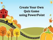 Create your own quiz game using PowerPoint