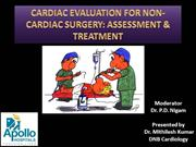 Cardiac evaluation for non cardiac Sx Dr Mithilesh