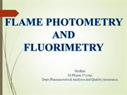 FLAME PHOTOMETRY AND FLUORIMETRY