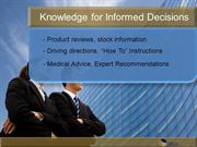Knowledge for Informed Decisions 7-16-13