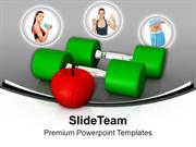 Fitness Depends On Excersise Health Theme PowerPoint Templates PPT The