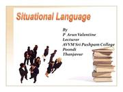 Situational Language