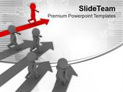 Growth Representation With 3d Graphics PowerPoint Templates PPT Themes