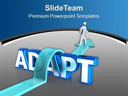 To Get Sucess Adapt New Qualities Business PowerPoint Templates PPT Th