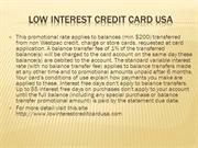low interest credit card usa
