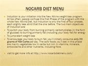 nocarb diet menu