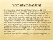 video games magazine