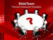 Solve The Questions In Team Meeting PowerPoint Templates PPT Themes An