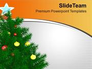 Enjoy Christmas With Christmas Tree PowerPoint Templates PPT Themes An
