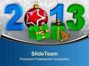 Exchange Gifts New Year 2013 PowerPoint Templates PPT Themes And Graph