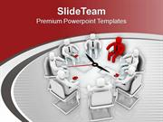 Exchange Suggestion During Team Meeting PowerPoint Templates PPT Theme