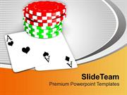 Play Cards And Poker In Casino PowerPoint Templates PPT Themes And Gra