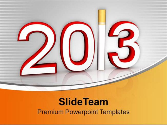 quit smoking this new year 2013 powerpoint templates ppt themes an authorstream