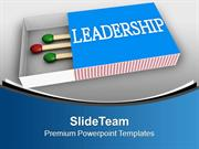 Show Your Leadership Quality PowerPoint Templates PPT Themes And Graph