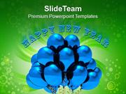 Blue Balloons For Celebration Theme PowerPoint Templates PPT Themes An