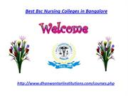 Best Bsc Nursing Colleges in Bangalore