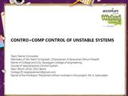 CONTRO+COMP CONTROL OF UNSTABLE SYSTEMS
